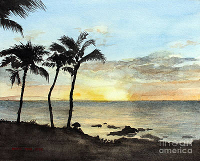 Sunset On The Coast Art Print