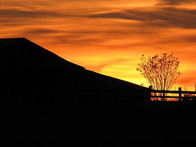 Sunset On The Farm Art Print by Greg Simmons
