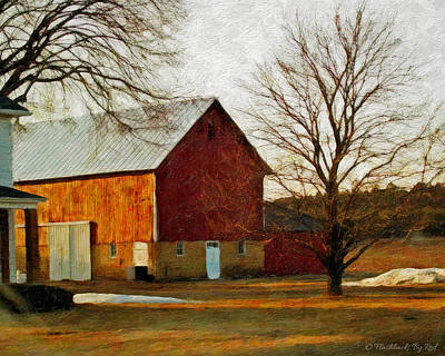 Painting - Sunset On The Farm by Melody McBride