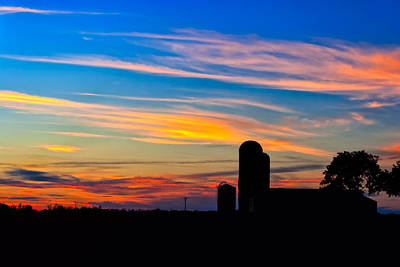 Photograph - Sunset On The Farm - Rural Georgia by Mark E Tisdale