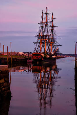 Photograph - Sunset On The Friendship Of Salem by Jeff Folger
