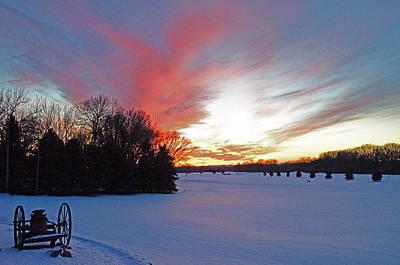 Sunset On The Golf Course Art Print by Dan  Meylor