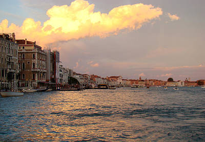 Photograph - Sunset On The Grand Canal by Walter Fahmy