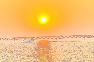 Photograph - Sunset On The Great Lakes by Brett Geyer