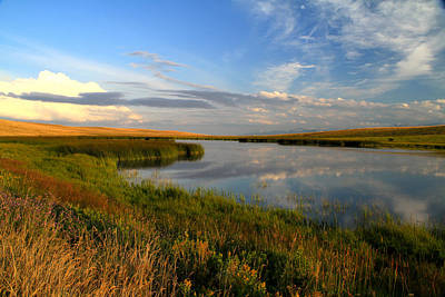 Photograph - Sunset On The Great Plains Of Montana by Ed  Riche