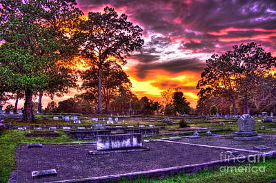 Photograph - Sunset On The Greensboro Cemetery Callaway Lot by Reid Callaway