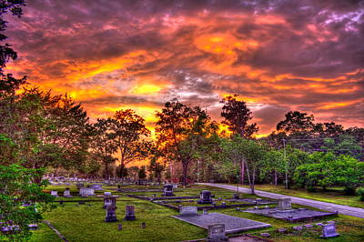 Photograph - Sunset On The Greensboro Cemetery by Reid Callaway