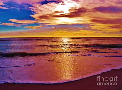 Photograph - Sunset On The Gulf by Judy Via-Wolff