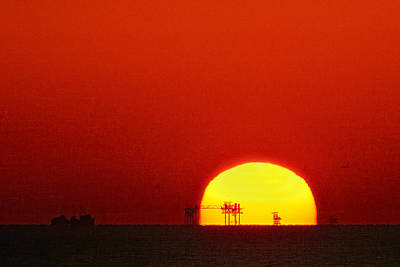 Gulf Of Mexico Photograph - Sunset On The Gulf Of Mexico by Bradford Martin