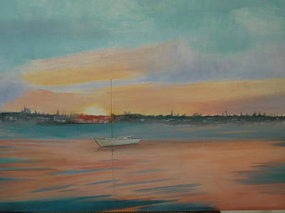Sunset On The Harbor Original by Lori Royce