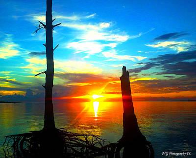 Sunset On The Island Art Print