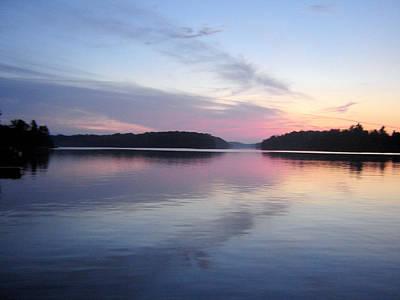 Sunset On The Lake 2 Art Print by Gaetano Salerno