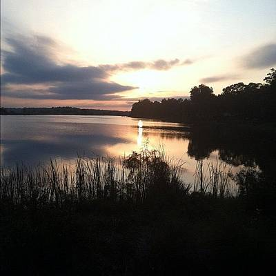 Marsh Photograph - Sunset On The Lake by Brytanie Pappas