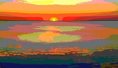 Sunset Digital Art - Sunset On The Lake by Dan Sproul