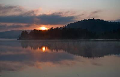 Sunset On The Lake Art Print by Marek Poplawski