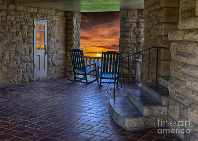 Photograph - Sunset On The Lodge by Liane Wright