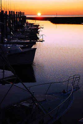 Sunset On The Marina Art Print by James Kirkikis