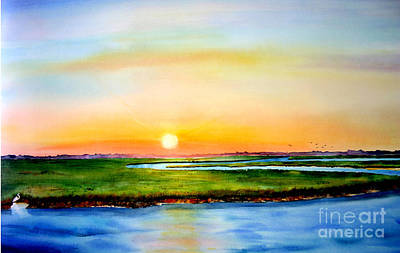 Sunset On The Marsh Art Print