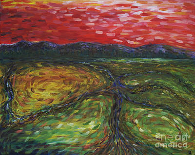 Sunset On The Narrows Art Print by Cynthia Lagoudakis