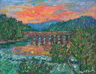 Sunset On The New River Original by Kendall Kessler