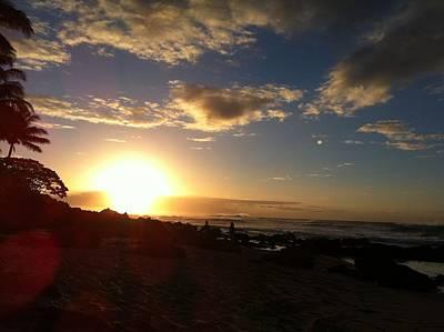 Sunset On The Ocean Art Print