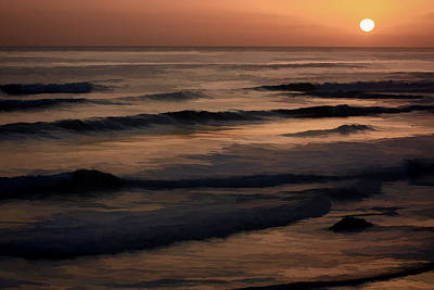 Digital Art - Sunset On The Ocean by Photographic Art by Russel Ray Photos