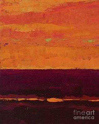 Painting - Sunset On The Pier by Gail Kent