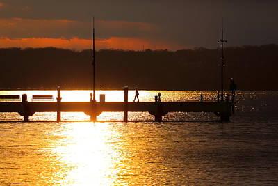 Sunset On The Pier Art Print