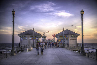 Photograph - Sunset On The Pier by Spencer McDonald