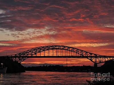 Sunset On The Piscataqua         Art Print