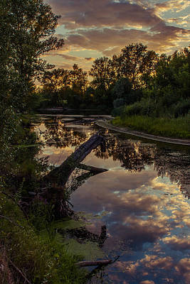 Photograph - Sunset On The Quiet River by Dmytro Korol
