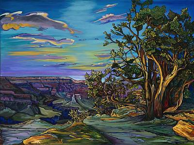 Painting - Sunset On The Rim by Alexandria Winslow