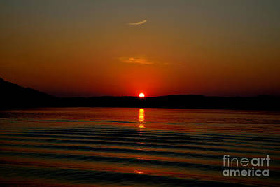 Photograph - Sunset On The River by RLH Photography