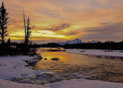 Art Print featuring the photograph Sunset On The River by Yeates Photography