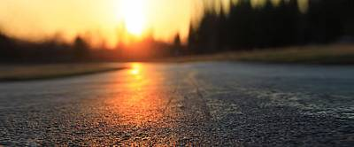 Photograph - Sunset On The Road by Dan Sproul