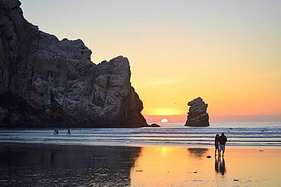 Photograph - Sunset On The Rocks by AJ  Schibig