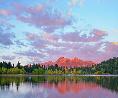 Sunset On The Ruby Range From Lost Lake Art Print