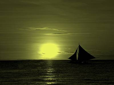 Sunset On The Sea Art Print