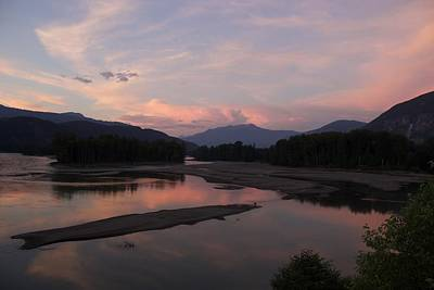 Photograph - Sunset On The Skeena by Sylvia Hart