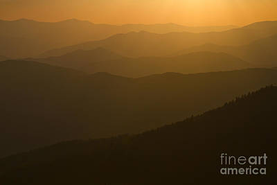 Photograph - Sunset On The Smokies by Dennis Hedberg