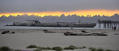 Photograph - Sunset On The Ss Palo Alto by AJ  Schibig