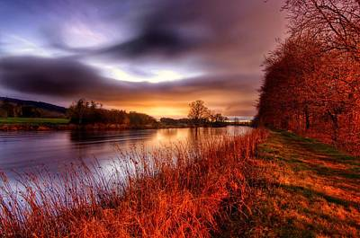 Sunset On The Suir Art Print