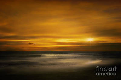 Sunset On The Surf Art Print by Tom York Images