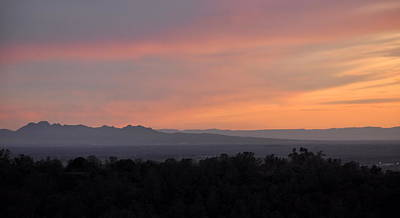 Photograph - Sunset On The Sutter Buttes by AJ  Schibig