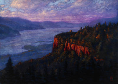 Painting - Sunset On The Vista House by Michael Orwick