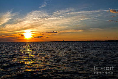 Print featuring the photograph Sunset On The Water In Provincetown by Eleanor Abramson