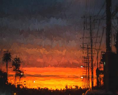 Sunset On Ventura Boulevard Art Print by Ike Krieger