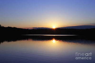 Walden Pond Photograph - Sunset On Walden Pond by John Greim