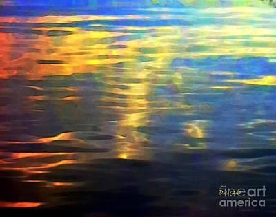 Sunset On Water Art Print