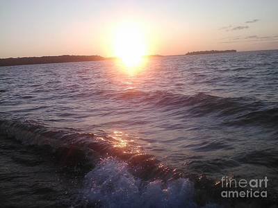 Photograph - Sunset On Waves by Jessi and James Gault